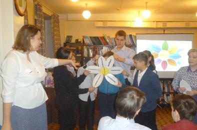 В коркинской библиотеке прошла минута добра и мира