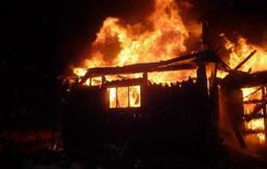 В посёлке Первомайском горели хозяйственные постройки