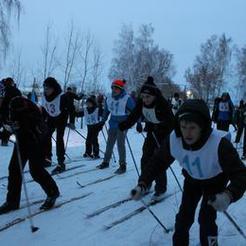 Розинцы отметили Рождество на лыжне