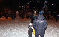 В новогоднюю ночь коркинцы общественный порядок не нарушали