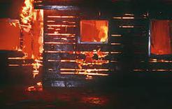 И снова в Коркино горела баня