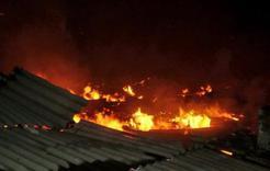 В Коркино огнём повреждён частный жилой дом