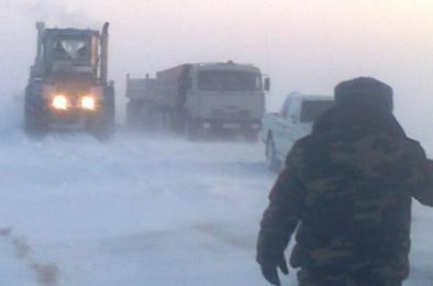 Из-за морозов ограничили движение в Казахстан