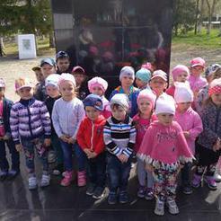 Детсадовцы Коркино возложили цветы на Алее Памяти