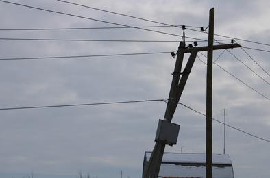 В Тимофеевке устанавливают электроопоры