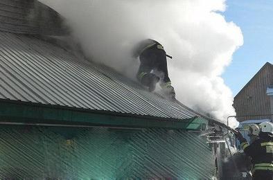 В Коркино произошёл пожар в частном доме