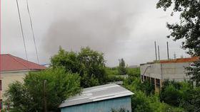 Облако пыли поднялось над разрезом в Коркино