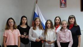 Вручили паспорта юным жителям района