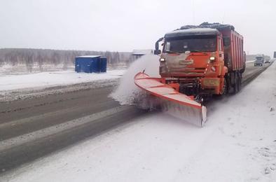 Снегопад не повлиял на движение на федеральных трассах