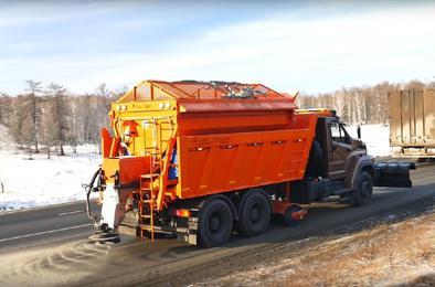 """В Челябинске """"Автодор"""" презентовал новую дорожную машину"""