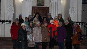 Коркинские пенсионеры встретили Крещение в проруби