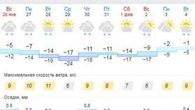 Последняя неделя января будет холодной - обещают синоптики
