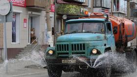 На улицы Коркино вышла спецтехника
