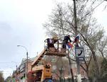 Улицы Коркино украшают к майским праздникам