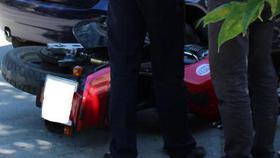 Несовершеннолетний водитель мопеда пострадал в ДТП