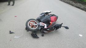 В Коркино 16-летний скутерист врезался в забор