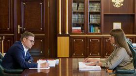Губернатор региона встретился с главой района