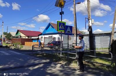 ГИБДД Коркино проверяет пешеходные переходы у школ